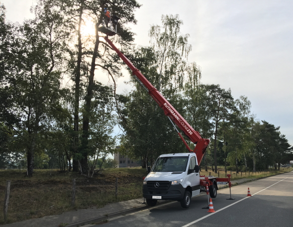 RUTHMANN ECOLINE 230 truck-mounted working platforms in low-budget segment